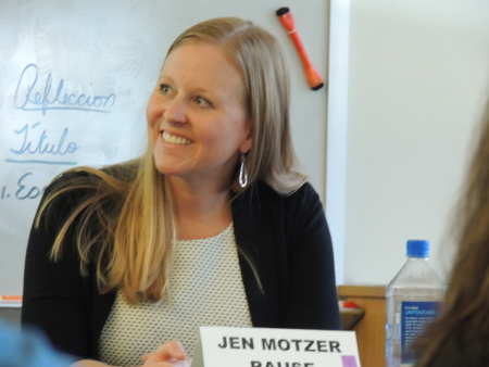 Jen Presenting at Aspen High School, October 2015